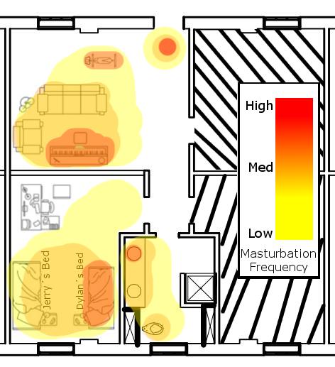 masturbation heat map
