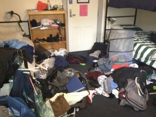 dirty dorm room